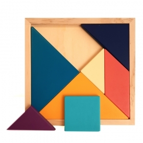 Tangram wooden puzzle